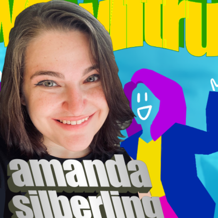 picture of amanda with word art